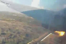 Uçağın düşme anını saniye saniye kaydetti