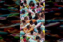 Çin'de havuza girmek isterken iki kere düşünün
