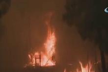 Atina'da korkutan yangın