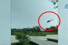 Helikopterin düşme anı saniye saniye kaydedildi!