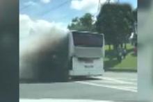 İstanbul'da yolcu otobüsünde yangın