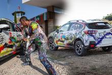 Sanat eserine dönüşen Subarı XV modeli festivale damga vurdu