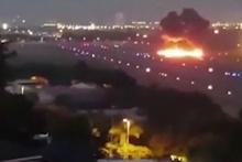 Pilotun öldüğü ve 6 kişinin ağır yaralandığı korkunç uçak kazası kamerada!