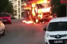 İzmir'de yanan araç dehşeti