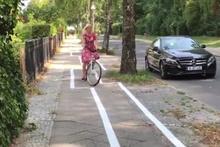 Almanya'daki zikzak bisiklet yolu şaşkına çevirdi