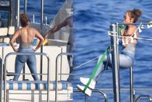 49'luk Jennifer Lopez üşenmeden teknede barfiks çekti!
