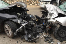 Kafa kafaya feci kaza: 2 ölü, 5 yaralı