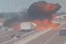 İtalya'daki patlama anı kamerada