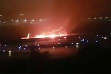 Rusya'da pistten çıkan uçak alev aldı! Yaralılar var