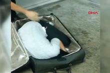 Polisler şoke oldu! Valizin içinden kadın çıktı