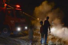 Adıyaman'da çocuk parkı yanında yangın