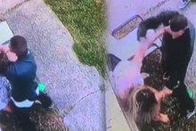 Sokak ortasında kadına iğrenç saldırı