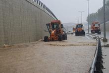 Kastamonu'da sağanak yağış ve dolu etkili oldu