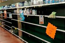 Kasırgada rafları boşalttılar sadece o ürünlere dokunmadılar