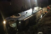 Yolcu otobüsü devrildi ölü ve yaralılar var