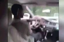 Aşırı hız yaptı, direksiyon elinde kaldı