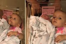 Yeni doğan kardeşini vermek istemeyen ufaklığın muhteşem anları