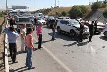 17 araç birbirine girdi: Trafik felç oldu!