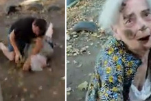 Yaşlı kadını döven adamı perişan etti