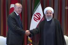 Cumhurbaşkanı Erdoğan ve Ruhani bir araya geldi