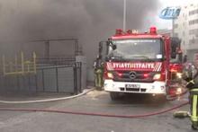 Beylikdüzü'nde sanayi sitesinde yangın