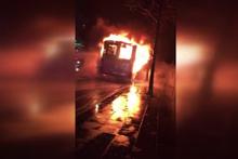 Park halindeyken yangın çıkan otobüste hasar oluştu