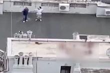 Önce çatıda seviştiler daha sonra ise bakın ne yaptılar! Olay görüntüler