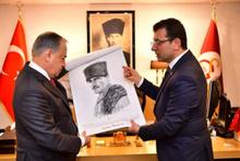 Ekrem İmamoğlu'ndan Galatasaray Başkanı Mustafa Cengiz'e ziyaret