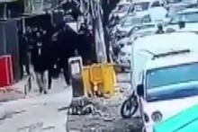 Münbiç'te patlama anı güvenlik kameralarına yansıdı