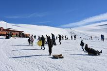 Hakkari kayak merkezinde yarıyıl  tatili yoğunluğu