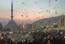 Şanlıurfa'da binlerce güvercin gökyüzüne bırakıldı