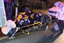 Üsküdar'da otomobil takla attı: 1 yaralı