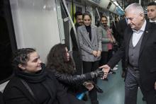TBMM Başkanı Yıldırım, Marmaray ile yolculuk yaptı