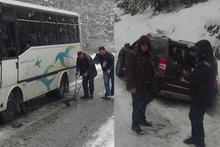 Onlarca araç ve yolcu mahsur kaldı!