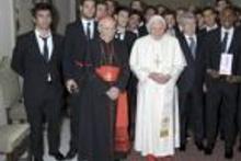 Arda Turan Papa'nın huzurunda