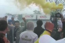 Sırbistan'da Fenerbahçe ve Türk Bayrakları dalgalanıyor