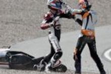 Moto GP'de motorlar değil  yumruklar konuştu