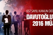 657 değişecek mi Davutoğlu'ndan 2016 müjdesi!