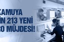 Kamuya 13 bin 213 yeni kadro müjdesi!