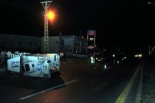 Ankara'da polis aracı kaza yaptı: Yaralılar var