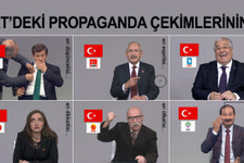 TRT propaganda çekimlerinin kamera arkası görüntüleri