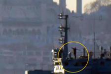 İstanbul Boğazı'nda Rusya savaş gemisi görüntüleri