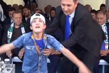 Suriyeli yetim çocuk Abdullah Cerruh protokolü şaşırttı