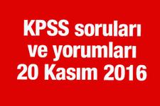 KPSS yorumları KPSS soruları nasıldı 20 Kasım 2016 Pazar