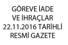 Emniyet memur ihraç listesi 22.11.2016 son KHK göreve iadeler