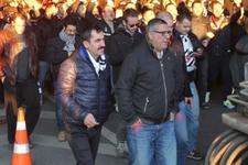 Fenerbahçe Beşiktaş maçı sonrası metrobüste kavga