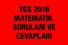 YGS Matematik soruları ve cevapları 2016 ÖSYM ais