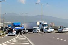 BOLU TEM'de ters yönde giden sürücü ortalığı karıştırdı
