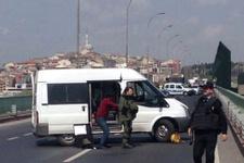 Haliç Köprüsü'nde bomba alarmı yol trafiğe kapatıldı