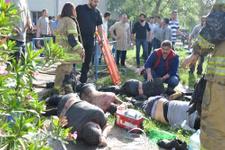 İzmir'de korkunç kaza işçiler kimyasal kazana düştü